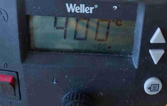 Temperature controlled soldering iron