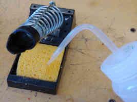 Sponge on soldering iron