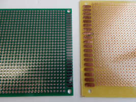 uncoated and coated circuit boards