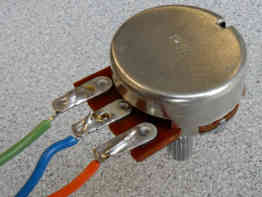 how to solder potentiometer