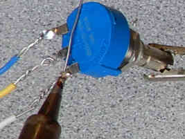 how to solder wire to potentiometer