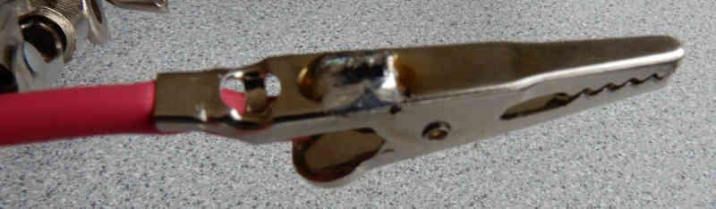solder connection on alligator clip