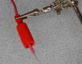 solder wire on alligator clip